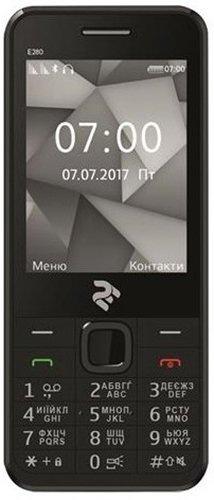 Мобильный телефон 2E E280 Dual Sim Black
