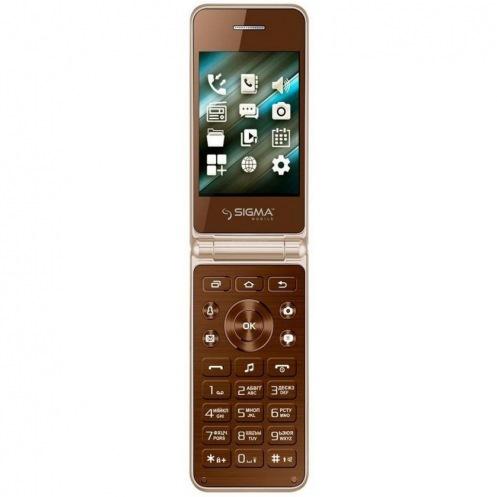 Мобильный телефон SIGMA X-style 28 Flip Gold-mokka