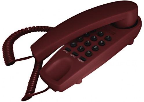 Телефон TEXET TX-225 Вurgundy