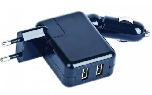 Автомобильное зарядное устройство Gembird MP3A-UC-ACCAR2 Black
