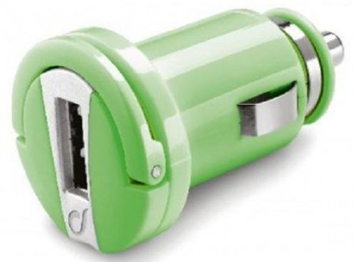 Автомобильное ЗУ CellularLine USB Compact Green (MICROCBRUSBG)