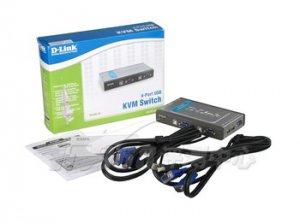 Переключатель KVM D-Link DKVM-4U, 4-портовий