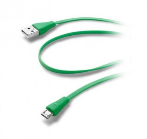 Кабель Cellular Line microUSB green (USBDATACMICROUSBG)