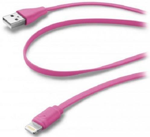 Кабель Cellular Line Lightning pink (USBDATACFLMFIIPH5P)