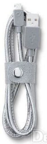 Кабель Cellular Line micro USB leather grey (USBDATACMUSBLEATH)