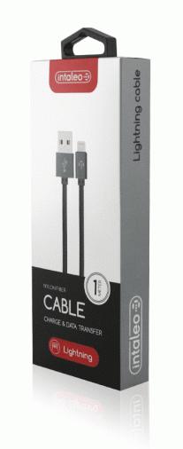 Кабель Intaleo CBGNYL1 USB-Lightning/1м/К/Grey
