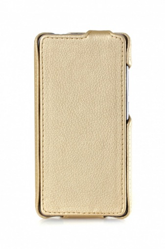 Чехол Flip Luxe Huawei Y7 Gold