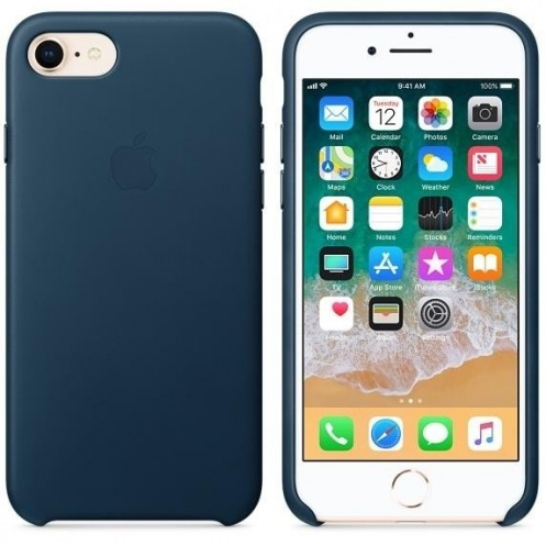 Накладка Apple iPhone 8/7 Leather Case - Cosmos Blue