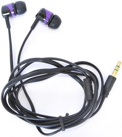 Наушники Florence E-127 black-purple (FAE127BU)