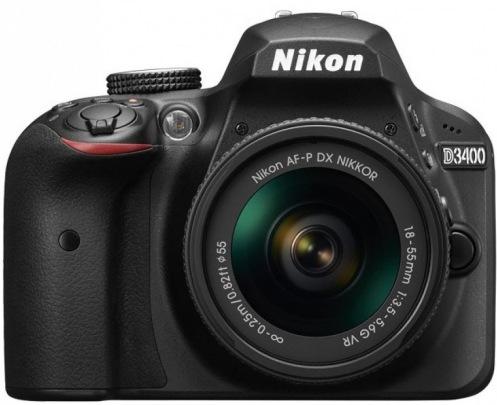 Цифровой фотоаппарат NIKON D3400 Kit AF-P 18-55 VR + AF-P 70-300 VR (VBA490K005)