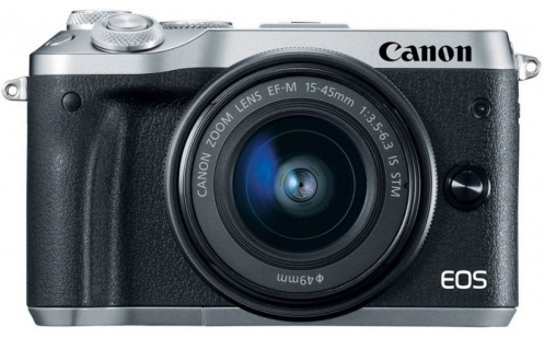 Фотокамера CANON EOS M6 Kit 15-45 IS STM Silver (1725C045)