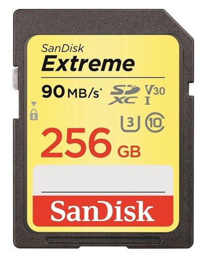 Карта памяти SanDisk 256GB SDXC V30 A1 UHS-I U3 R90/W60MB/s 4K Extreme