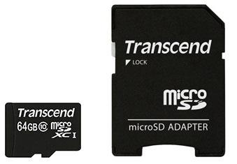 Карта памяти Transcend 32GB microSDHC C10 + SD (TS32GUSDHC10)