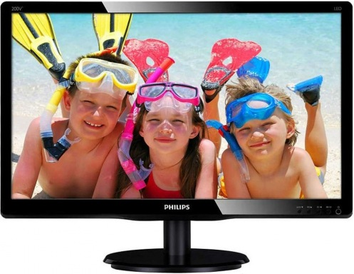 "Монитор 19.53"" Philips 200V4QSBR/01 Black"