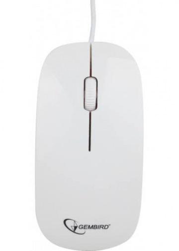 Мышь Gembird MUS-103-W USB White