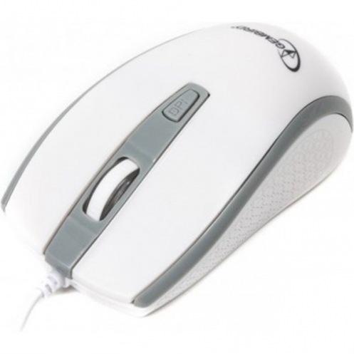 Мышь Gembird MUS-104-WGR, USB White/Grey