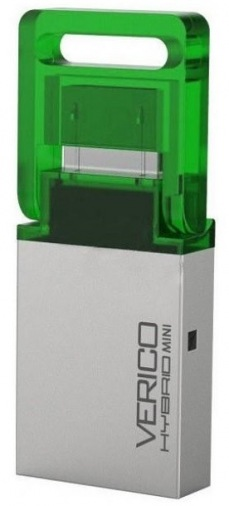 Накопитель USB 2.0 Verico 32Gb Hybrid Mini Green
