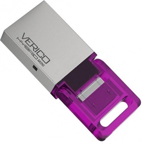Накопитель USB 2.0 Verico 32Gb Hybrid Mini Pink