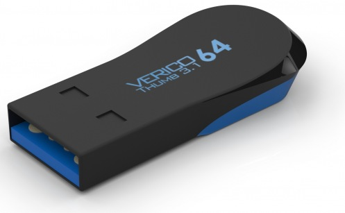 Накопитель Verico USB 32Gb Thumb Black+Blue USB 3.1