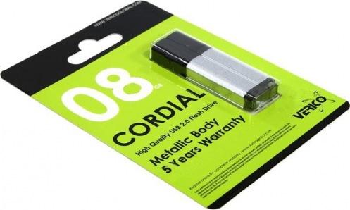 Накопитель Verico USB 8Gb Cordial Silver
