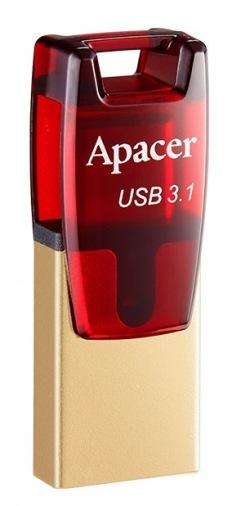 Накопитель USB Apacer AH180 32GB Type-C Dual Red (AP32GAH180R-1)