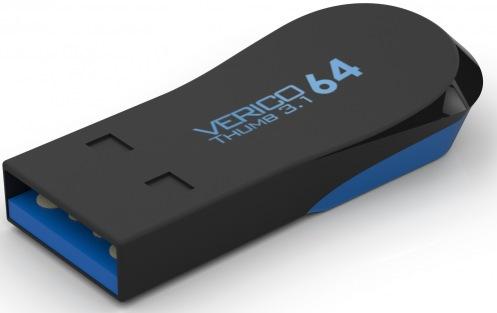 Накопитель Verico USB 64Gb Thumb Black+Blue USB 3.1