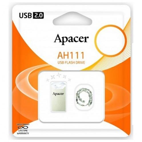 USB-накопитель Apacer 16Gb USB 2.0 (AP16GAH111CR-1) Crystal