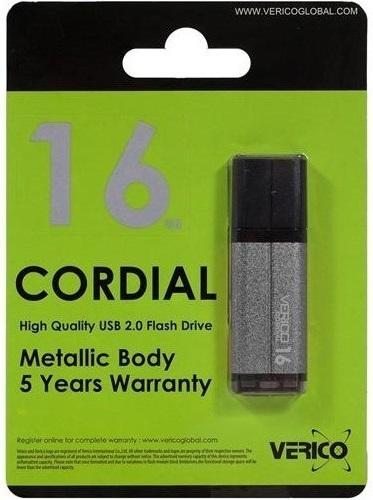 Накопитель Verico USB 16Gb Cordial Gray