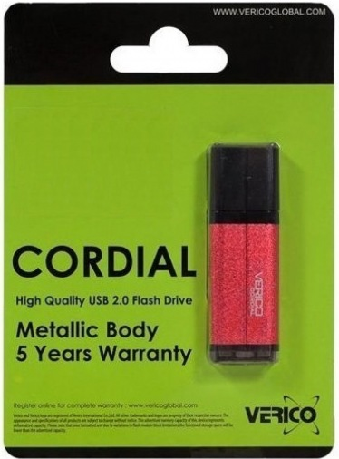Накопитель Verico USB 16Gb Cordial Red