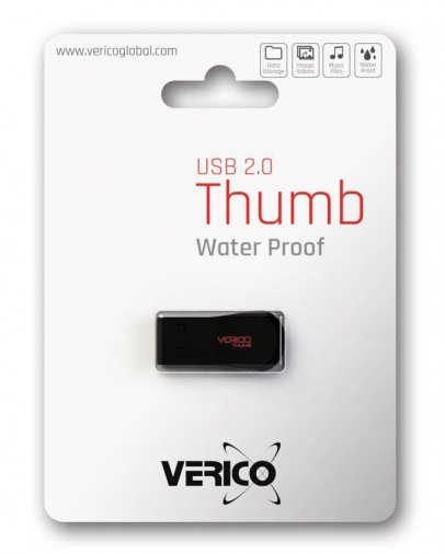 Накопитель Verico USB 16Gb Thumb Black+Red