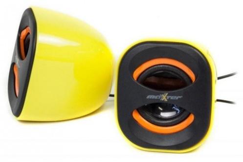 Акустическая система 2.0 Maxxter AS20Y Yellow