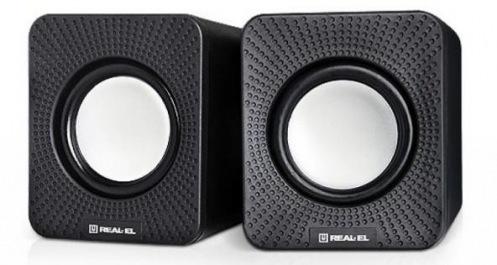 Акустическая система 2.0 REAL-EL S-11 Black (EL121100001)