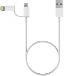 Кабель ZMi AL801 Apple Data cable 2 in 1 Lighting/Micro USB