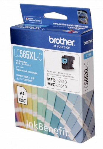 Картридж Brother MFC-J2310/J3520 XL Cyan 1 200стр. (LC565XLC)