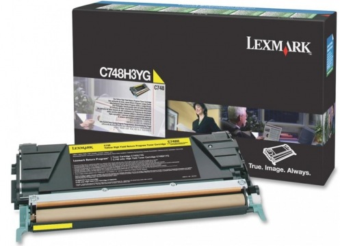 Картридж Lexmark C748 Bid Program Yellow 10k (C748H3YG)