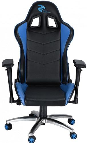 Кресло 2Е GC004 Black/Blue (2E-GC004BLB)