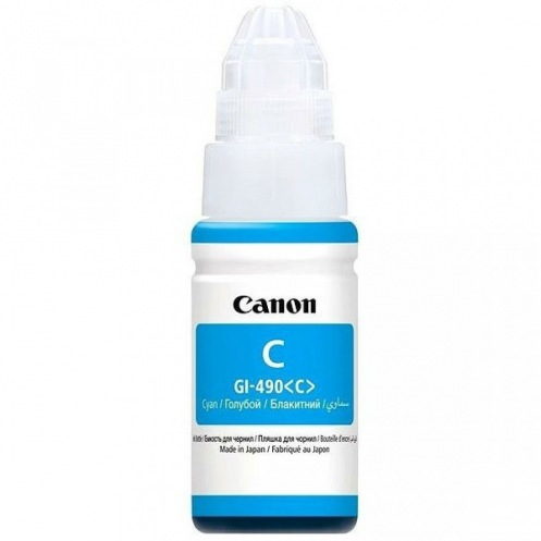 Чернила Canon GI-490 PIXMA G1400/G2400/G3400 Cyan 70ml (0664C001)