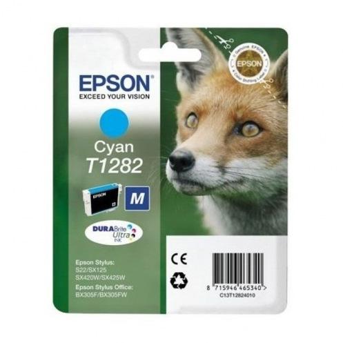 Картридж Epson St S22/SX125/SX130/SX420W/425W Cyan (C13T12824012)