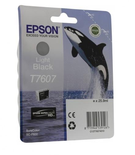 Картридж Epson SureColor SC-P600 Light Black (C13T76074010)