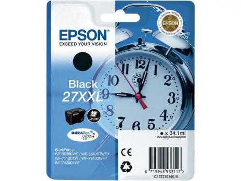 Картридж Epson WF-7620 black XXL 2200 стр. (C13T27914022)