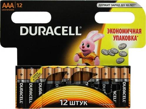 Батарейка DURACELL ААА MN 2400 (12 шт)