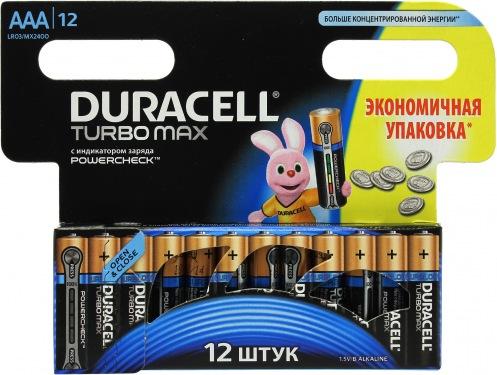 Батарейка DURACELL ААА MN 2400 Turbo (12 шт)