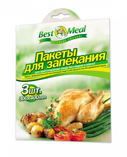 Пакет для запекания GREEN&CLEAN 00355  (3шт.) 300x400