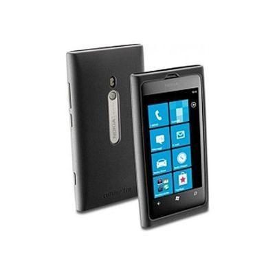 Накладка+пленка Nokia Lumia 800 Black (SILICONCASE)