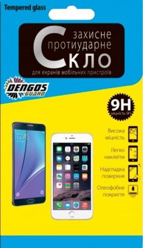 Защитная пленка-стекло Dengos TG Samsung Galaxy S8 5D золотиста рамка