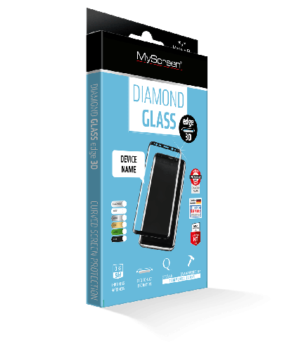 Защитное стекло MyScreen DIAMOND GLASS edge 3D Black IPhone 7/8
