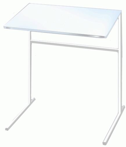 Столик для ноутбука Commus Комфорт жемчужный/белый