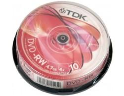 DVD+RW TDK 4,7Gb 1-4х Cake (10шт.)