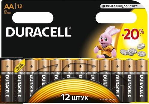 Батарейка DURACELL АА MN 1500 (12 шт)