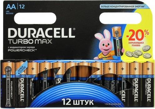 Батарейка DURACELL АА MN 1500 Turbo (12 шт)